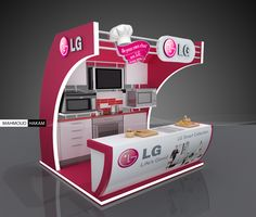 How clever is this 10x10? Attractive & functional! ~ LG booth by Mahmoud Hakam, via Behance