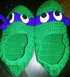 Purple Ninja Turtle Slippers - Adult Size