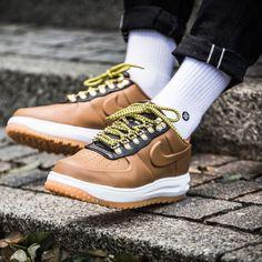 big sale 72002 af79a Nike Lunar Force 1 Duckboot Low Sneakers Ale Brown Size 7 8 9 10 11 12