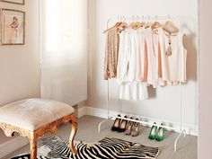 How to Make Your Tiny Closet Work for Your Massive Wardrobe: Organization and storage tips to ensure you can keep all your beautiful clothes, even if you're seriously lacking space. via @mydomaine