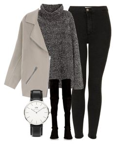 """Untitled #4522"" by laurenmboot ❤ liked on Polyvore featuring Topshop, H&M, Acne Studios, Stuart Weitzman and Daniel Wellington"