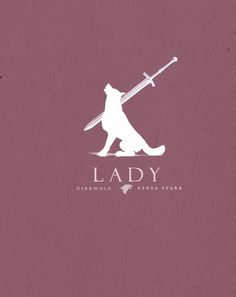 Lady Direwolf of Sansa Stark: ASOIAF/Game of Thrones  Minimalist poster by Sons of Wolves