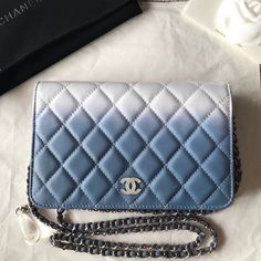 48160a186fad Chanel Two-Tone Calfskin & Resin Logo and Drop WOC Wallet On Chain Bag White