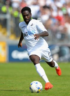 Nathan Dyer of Swansea City during the Pre-Season Friendly match between Bristol Rovers and Swansea City at Memorial Stadium on July 23, 2016 in Bristol, England.