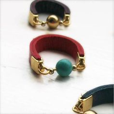 Dot rings - Turquoise and red (S-K) | Me by Amma Gyan