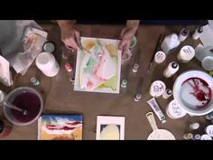 Secret Tricks to Pouring Acrylic - last 20 seconds has an awesome idea for pouring on wax paper to make cut-able collage pieces