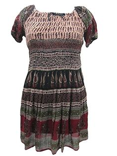 Boho Peasant Mini Dress Floral Print Vintage Dresses Mogul Interior http://www.amazon.com/dp/B00M9GI8DO/ref=cm_sw_r_pi_dp_bKe4tb0H4JPCF4WV