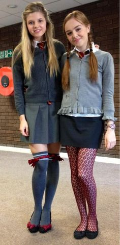 Burnham and Ana Mulvoy Ten Cute Little Girl Dresses, Cute Girl Outfits, Girls Dresses, Cute School Uniforms, School Uniform Outfits, Preteen Girls Fashion, Girl Fashion, Colored Tights Outfit, School Girl Dress