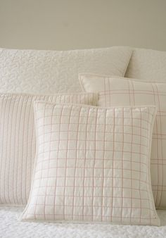 Quilted Throw Pillows from Purl Bee
