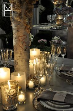 Mode Function Event Design Ltd. I'm more into the Corporate and Special Events side but what a creative and personalized idea for a Wedding! Wedding Show, Fall Wedding, Dream Wedding, Tree Centerpieces, Centerpiece Ideas, Event Decor, Event Ideas, Party Ideas, Wedding Parties
