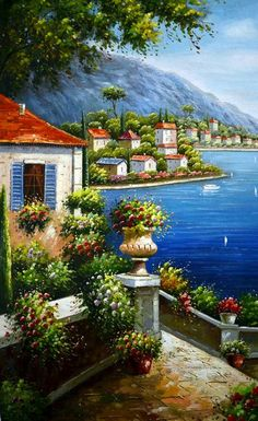 Mediterranean Sea Landscapes Oil Paintings 004 ...BTW,Please Check this out: http://artcaffeine.imobileappsys.com