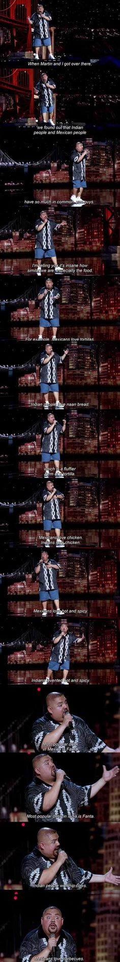 Gabriel Iglesias. Jokes on race and racist humor  Dump A Day Funny Pictures Of The Day - 62 Pics. Stereotypes and ethnic funnies comparing Mexicans with Indians