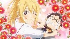 Kaori Miyazono and Kousei Arima from Your Lie in April   Hahaha :P