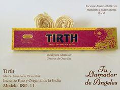 Tirth - Incienso masala con exquisito y suave aroma floral. Ideal para Altares o Centros de Oración.