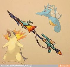 pokeweapon typhlosion & kingdra