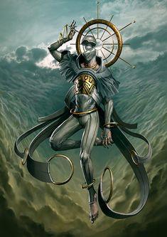 Sahaqiel - Angel of the Sky - Angelarium - Series 2 on Behance