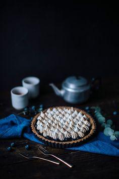 私たちの食べ物の話:グルテンフリーのブルーベリー・メレンゲのタルト  #cake #sweets #pie #tart #ケーキ #スイーツ #パイ #タルト