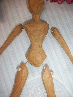Primitive doll wooden with jointed arms and legs by ThisandThat4U, $82.95