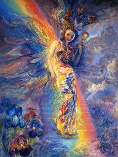 goddess pics   josephine_wall_goddesses_iris keeper of the rainbow