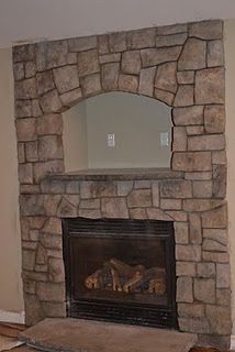 Carved vertical concrete with concrete hearth and mantle shelf... http://themantlegroup.blogspot.com/