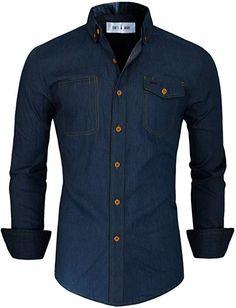 Toms Ware Mens Casual Denim Button Down Shirt Stylish Shirts, Casual Shirts For Men, Men Casual, African Clothing For Men, Mens Clothing Styles, Men's Clothing, Corporate Shirts, Indian Men Fashion, Men's Fashion