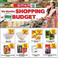 #SPARMonthlyShopping Monthly Shopping lets you grab the best deals and exclusive discounts at SPAR hypermarkets in your city.  Save money and experience the joy of choosing from a great selection of products at the best prices with monthly shopping.