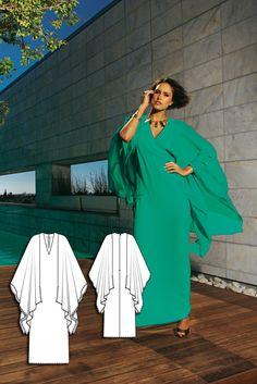 Kaftan Dress 06/2010 #111 http://www.burdastyle.com/pattern_store/patterns/kaftan-dress-062010?utm_source=burdastyle.com&utm_medium=referral&utm_campaign=bs-tta-at-150617-BrightNightsCollection111