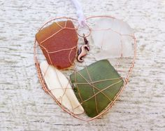 Genuine upcycled multicolor sea glass and by HandmadeBeachCraft