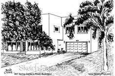 House Sketch of 867 Spring Gardens Road, Burlington