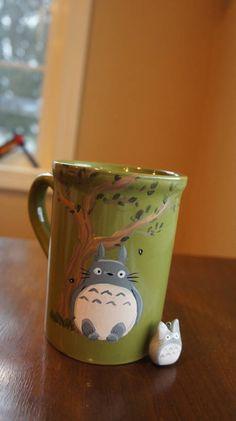 Awesome painted Totoro mug :: Geeky Swap Gallery - ORGANIZED CRAFT SWAPS
