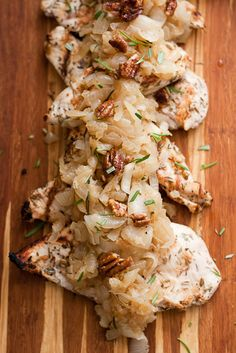 Grilled Herb Chicken and Rosemary Caramelized Onions | www.perrysplate.com