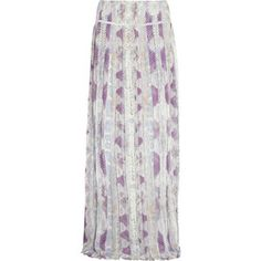 Roberto Cavalli Kiran pleated silk-georgette maxi skirt