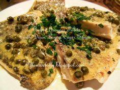 Fleur de Lolly: Baked Grouper Fillets with Dijon Lemon Caper Sauce