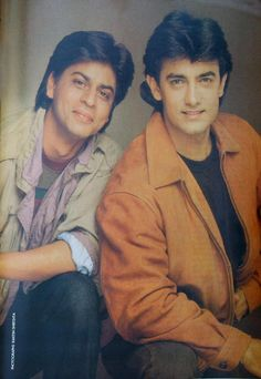 Aamir Khan with Shahrukh Khan sublime hotness right here.