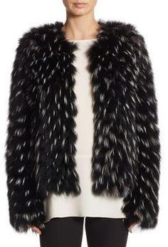 Elizabeth and James Piper Fox Fur Jacket