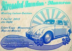 Aircooled Invasion - Mouscron.   Meeting Indoor - Outdoor   Sponsored by Goodiesandfamily.com