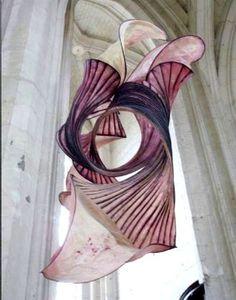 peter gentenaar   ... Paper Sculptures Float Inside a Church... Peter Gentenaar artworks