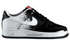 more photos 24a59 d29bb Nike Air Force 1 Black White-Hot Red Nike Air Force Ones, Air