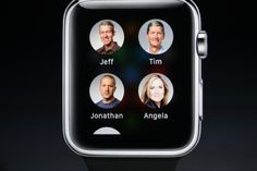Straightforward contact design on the Apple Watch