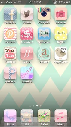 CocoPPa, free app on how to make your apps pretty :-) Zangs Zangs Osborne this is what you neeeeeed to do! Cocoppa Wallpaper, Phone Organization, Organization Ideas, Phone Background Patterns, Phone Gadgets, Bath And Beyond Coupon, Iphone Icon, Phone Charger, Diy Videos