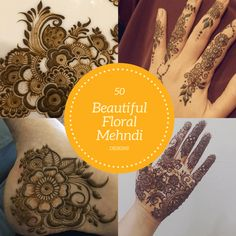 Best Floral Mehndi Designs with Step by Step Video Tutorial Best Floral Mehndi Designs- Flowers roses in particular leaves shrubbery and various other floral motifs are surely classical when it comes to henna art. Henna Mehndi, Henna Art, Mehendi, Beautiful Henna Designs, Makeup Tattoos, Beauty Makeup Tips, Floral Motif, Design Tutorials, Mehndi Designs