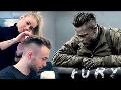 Brad Pitt Hair from FURY ★ Professional Guide ★ Men's Undercut - YouTube