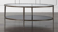 """Living Room Coffee Table Clairemont Oval Coffee Table Crate & Barrel 19""""H x 30""""w x 48"""" L $699"""