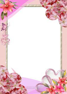 Frames with pink flowers Paper Flower Art, Paper Flowers, Pink Flowers, Boarders And Frames, Photo Frame Design, Poster Background Design, Free Frames, Birthday Frames, Christmas Frames