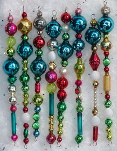 100% Vintage Glass Garland Mercury Bead Icicle Christmas Xmas Ornaments