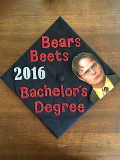 Image result for the office graduation cap
