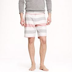 "J.Crew - 9"" board short in stripe oxford cloth"