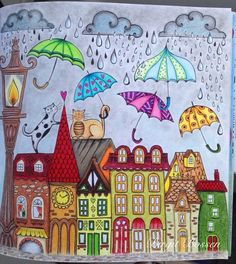 # meinfrühlingsspaziergang - Sites new Art Doodle, Doodle Art For Beginners, House Quilts, Happy Paintings, Arte Popular, Naive Art, Whimsical Art, Cat Art, Art Lessons