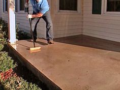 How to stamp a concrete porch floor.