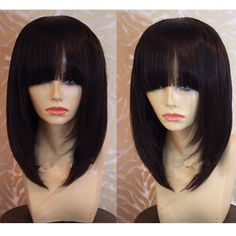 84.00$  Watch here - http://ali3ep.worldwells.pw/go.php?t=32420053003 - Rihanna human hair short cut 10inch None bob lace wigs with bangs front lace wigs glueless full lace wigs with natural hairline 84.00$